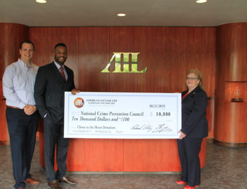 American Income-Altig/Orlovic Donates $10,000 to National Crime Prevention Council